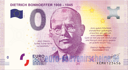 0 Euro Collector Banknotes Xemh 2020 2 Dietrich Bonhoeffer 1906 1945