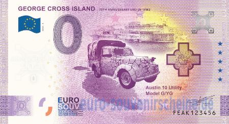 George Cross Island Euro Souvenir Banknote Euro Schein 2020-1 Malta FEAK Anniv